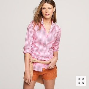 J.Crew Perfect Shirt in Neon Gingham
